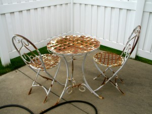 Patio furniture.