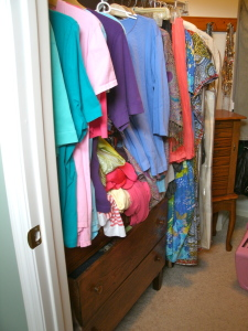 Queen closet (left side).