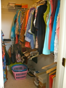 Queen closet, after.