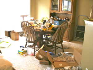 Dining room, before it got even worse.
