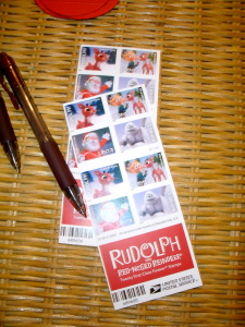 Rudolph stamps.