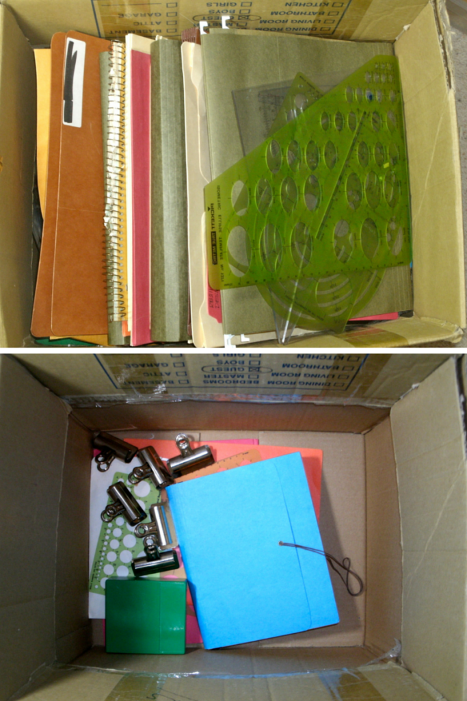 Box, before and after.