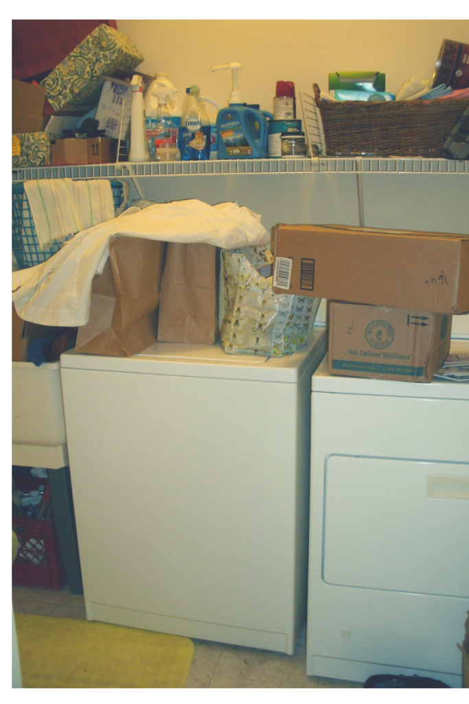 Laundry room, before.
