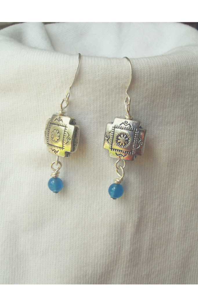 blue chalcedony earrings 2