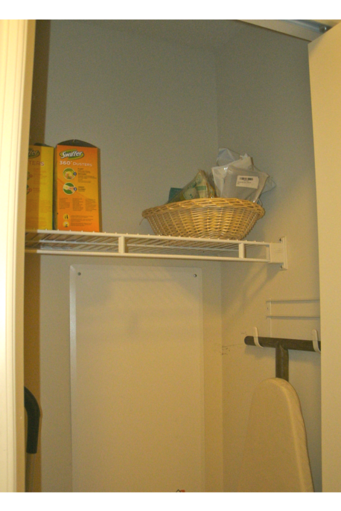 laundry closet- ironing board widget
