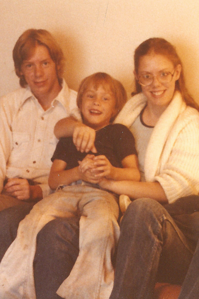 No.5 Bro, No.1 Nephew, and me in 1977