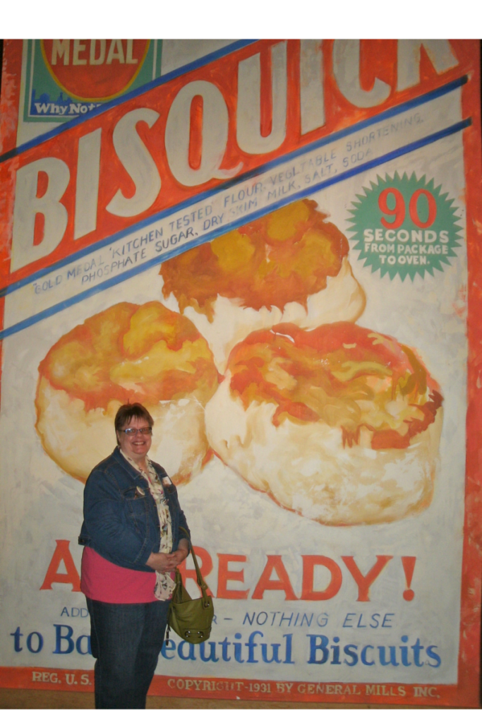 ME, IN FRONT OF WHAT MAY BE THE WORLD'S LARGEST BOX OF BISQUICK