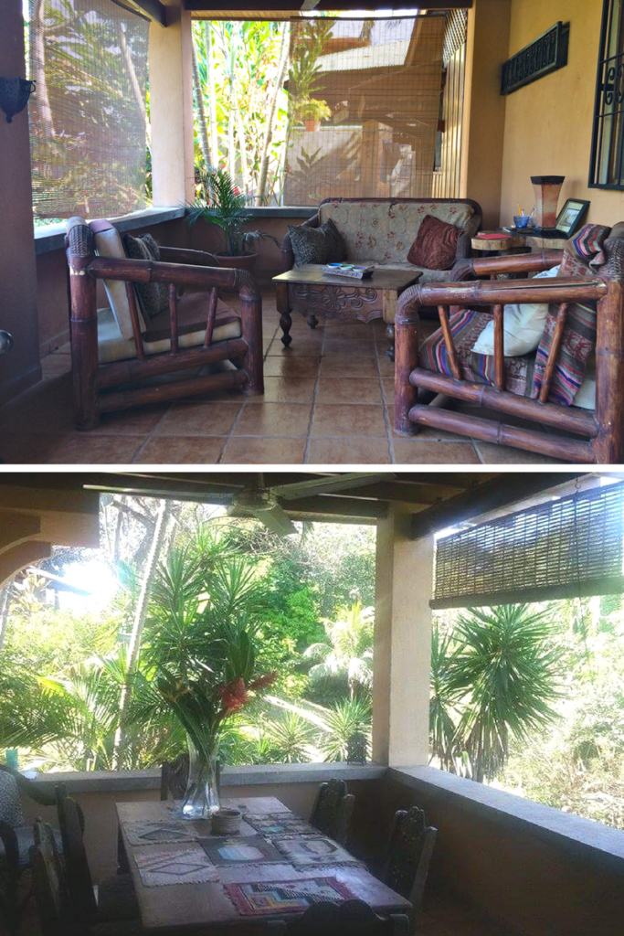 RANDOM PHOTOS OF THE VERANDA AT THE RENTAL HOUSE AT ESTERILLOS OESTE, COSTA RICA