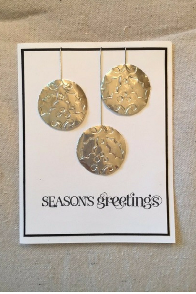 Christmas card, Stampin' Up, aluminum foil