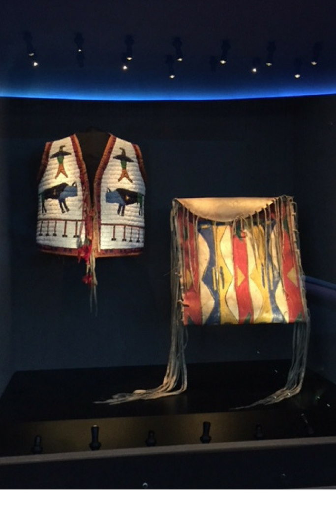 NATIVE VEST AND BAG AT NMAI