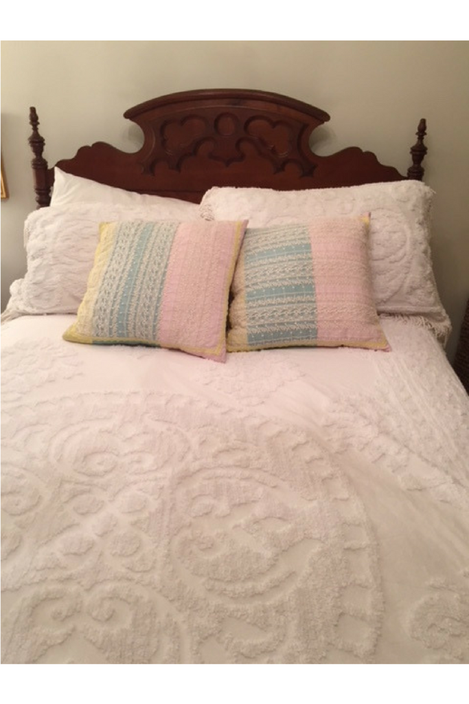 BED, HASTILY MADE FOR BLOG PHOTO